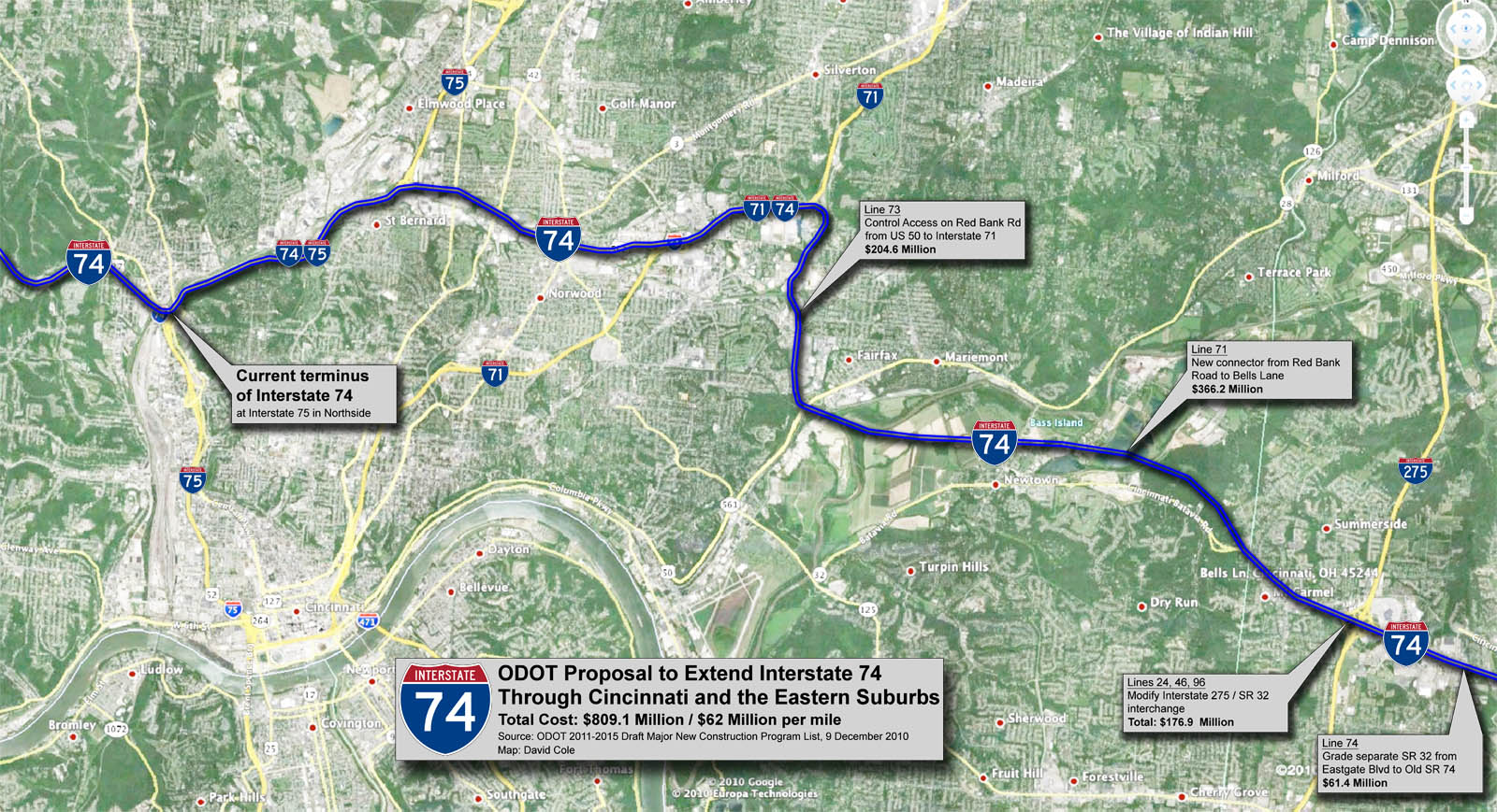 809M identified for extension of I 74 through