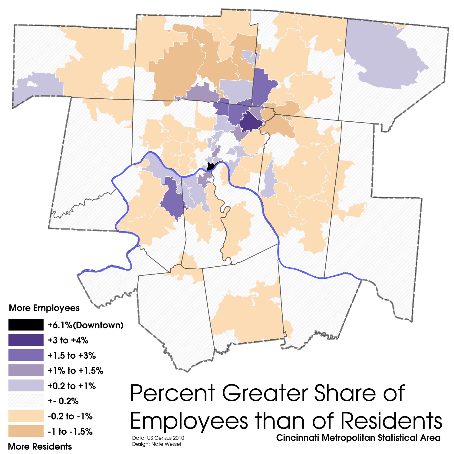 Cincinnati Employment/Population Share