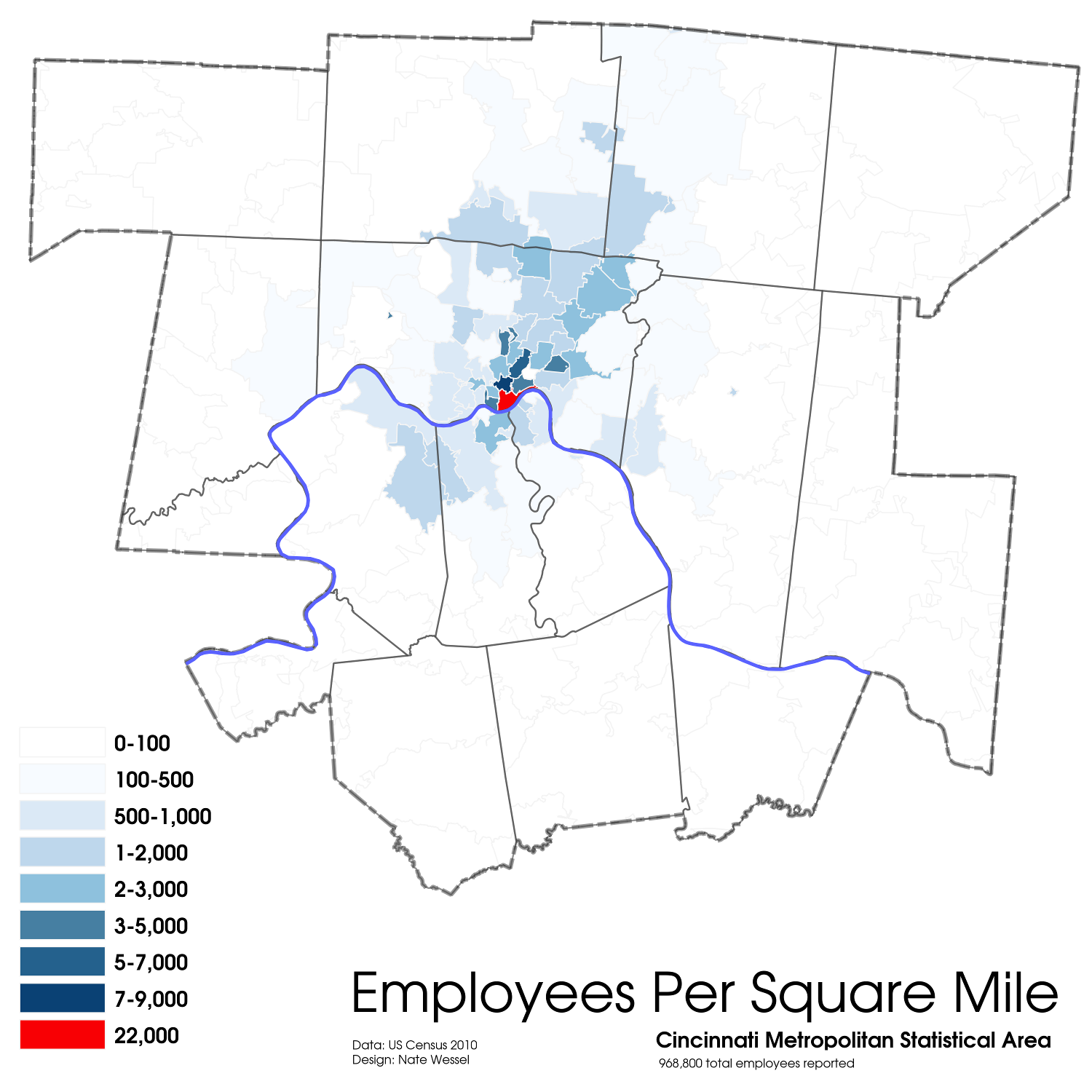 Cincinnati Employment Density