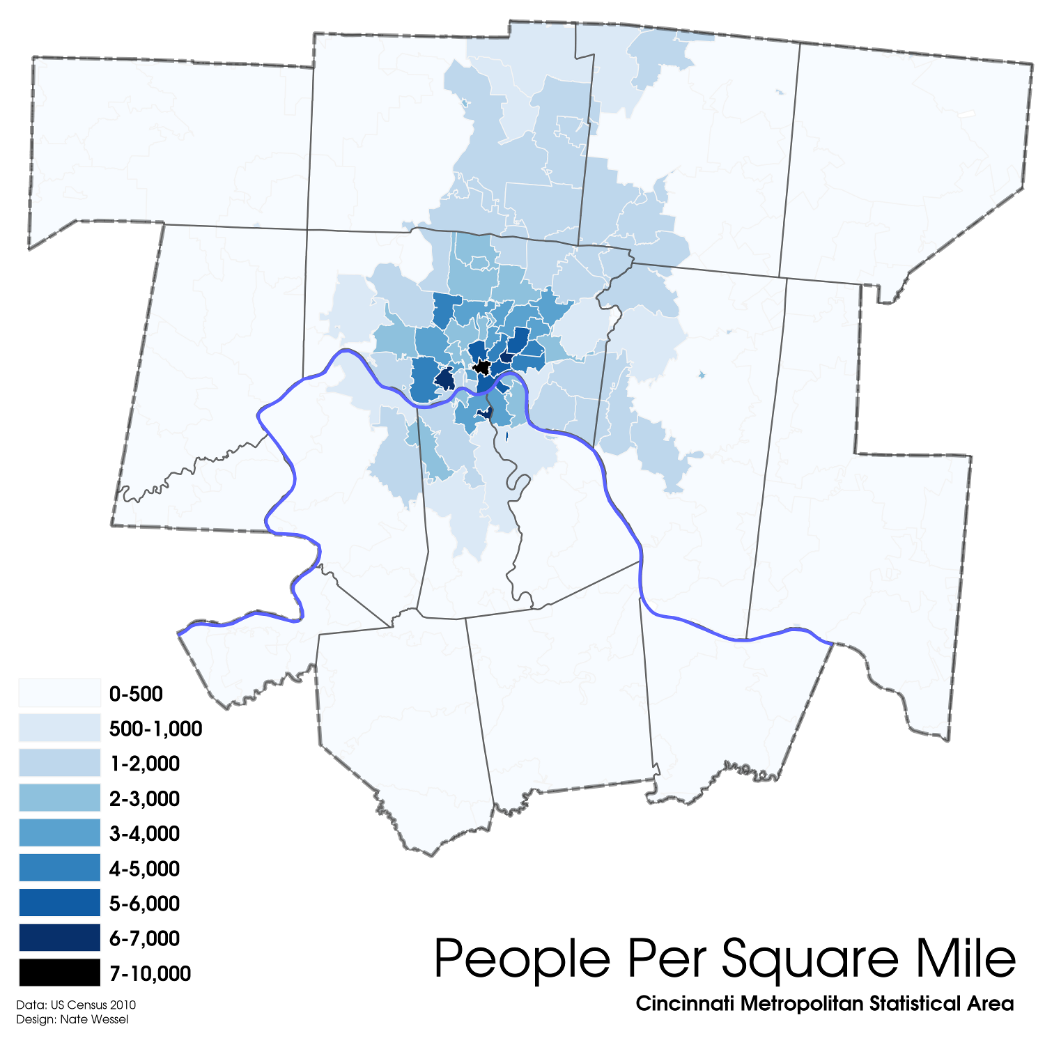 Cincinnati Population Density