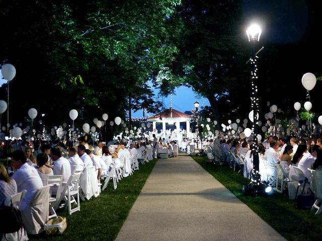 Cincinnati Diner en Blanc