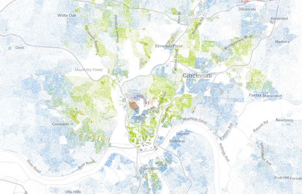 UVA Demographers Map Illustrates Cincinnatis Racial Segregation
