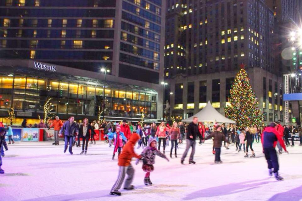 Image result for fountain square ice skating