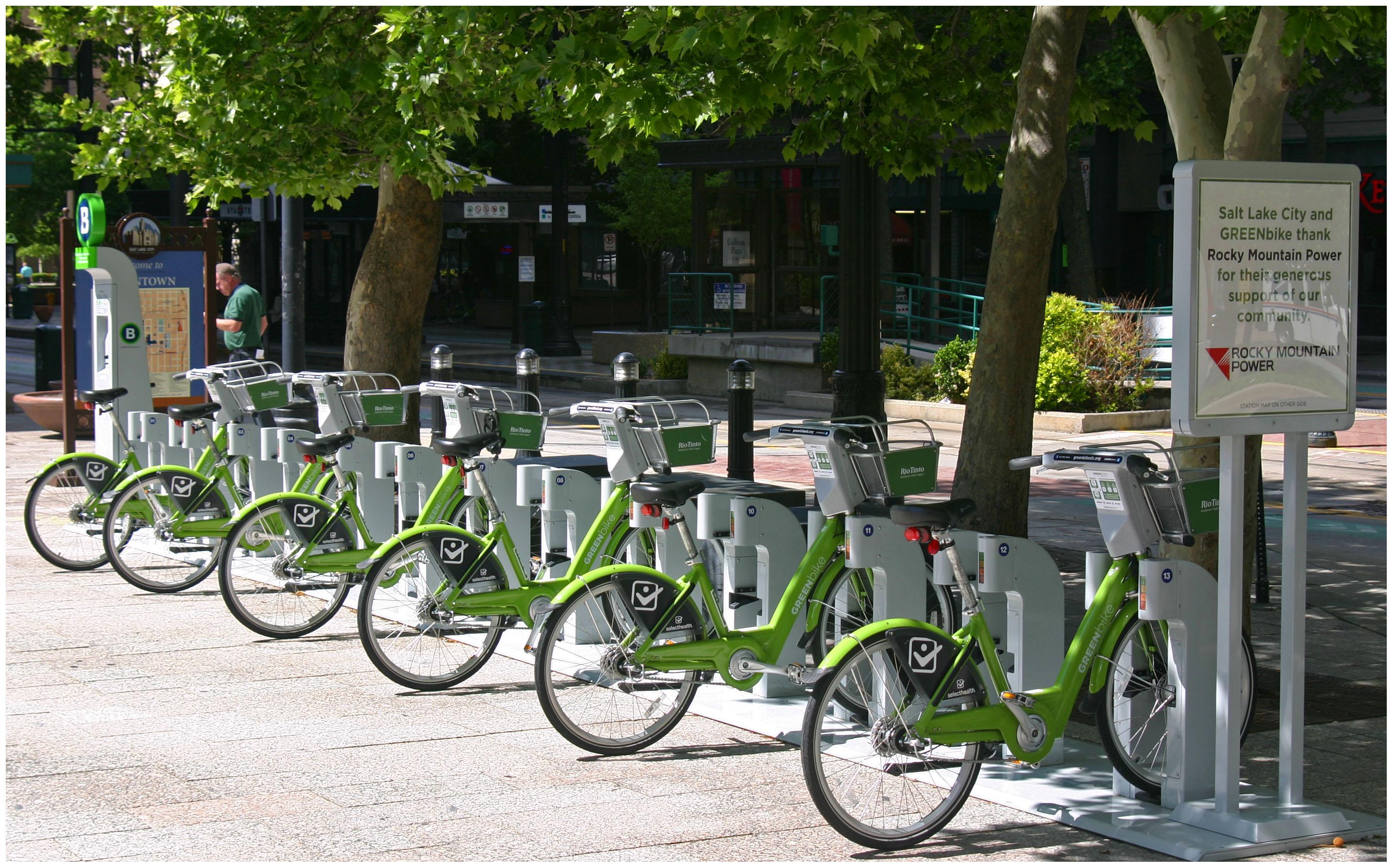Bike City >> Salt Lake City GREENbike Station — UrbanCincy