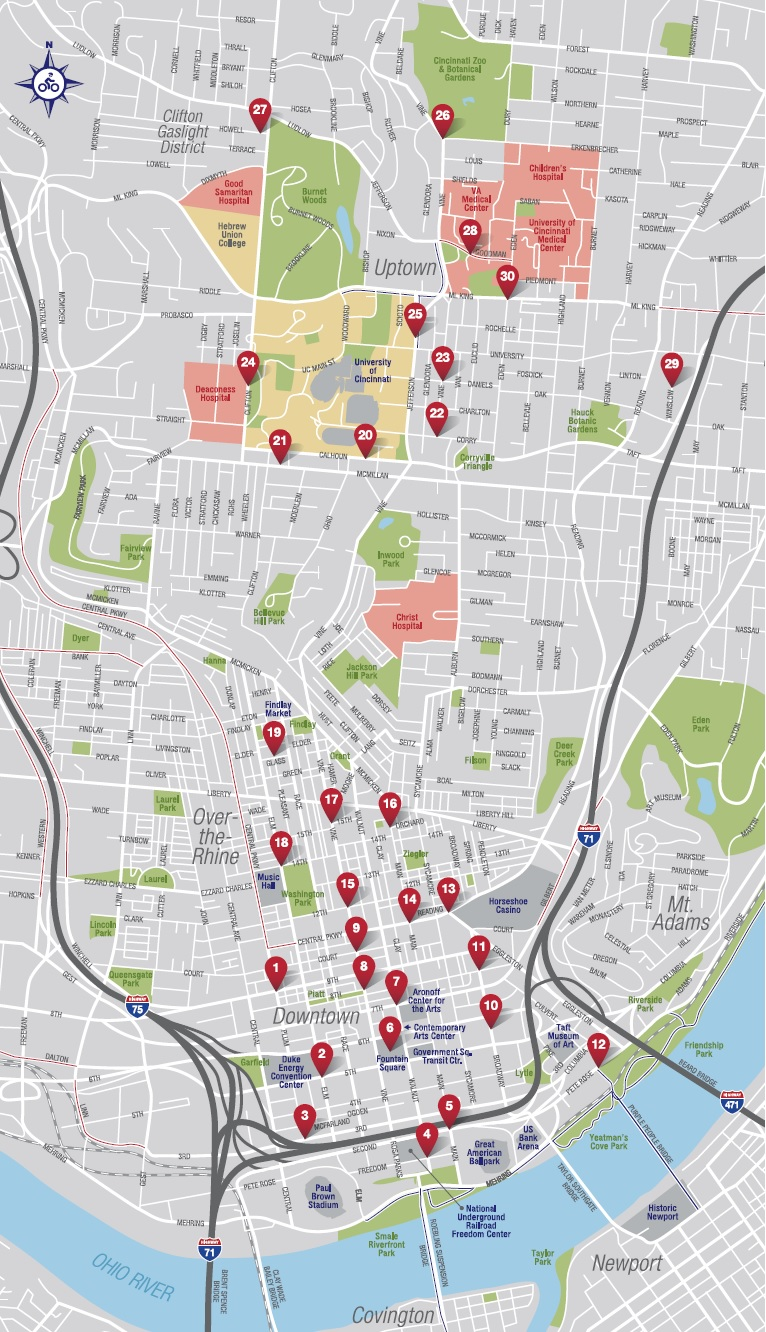 Cincy Red Bike Phase 1 Map