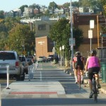 Central Parkway Protected Bike Lane [Eric Anspach]