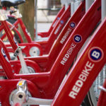 A Cincy Red Bike station