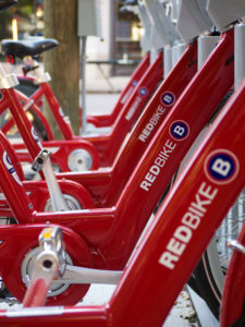 A Cincy Red Bike station