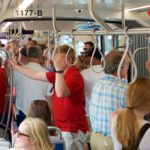 All five streetcars were in service and full of riders all weekend.