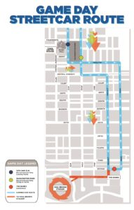 Town Center Garage Streetcar Route